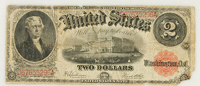 1917 US $2 TWO DOLLAR LEGAL TENDER NOTE