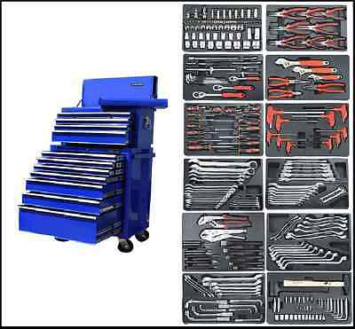 14 Us Pro Blue Heavy Duty Tool Box/chest With Tools/ Cabinet Finance Available!