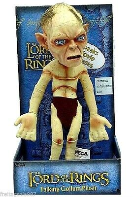 LORD OF THE RINGS GOLLUM plush-toy 28cm sound Neca