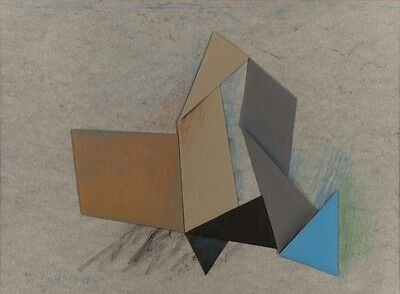 Margareth Sliwinsky - Collage e matite - Collage and color pencils - 1982