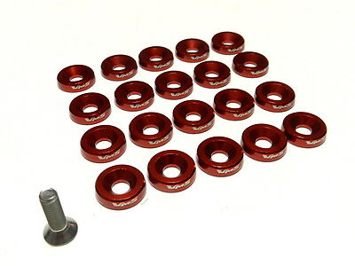 2PC VMS RACING LICENSE PLATE BOLT /& WASHER KIT GOLD