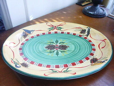 Lenox WINTER GREETINGS EVERYDAY Large Oval Serving Platter Rare - Box!