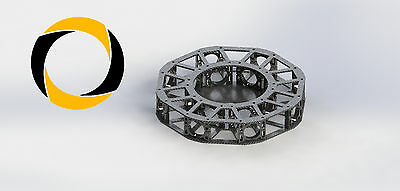 Centerplate Frame Rohr-schelle  Quadro-Copter Drone CFK Carbon CNC Octo Y-6