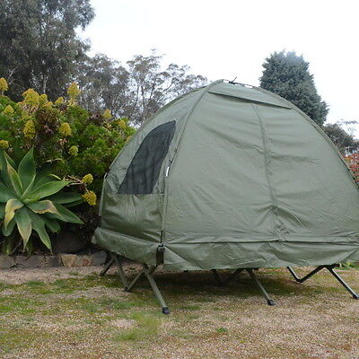 Double Camping Swag – Off Ground Swag Tent , Camping tent, tent bed -Olive Green