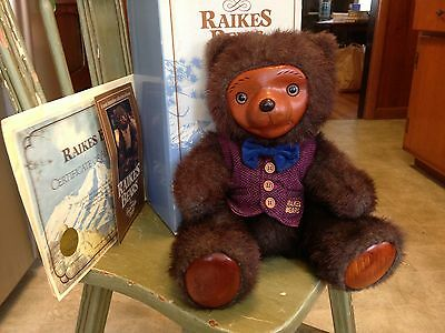 Robert Raikes Bentley Bear #4287 of 7500 Complete w/ Box & Certificate 1985
