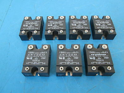 LOT OF 7 Crydom TD2410 Solid-State Relay 240V 10A Output