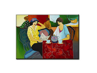 """Itzchak Tarkay Femme Oil Painting Repro """" Colorful Day"""" 24*32"""