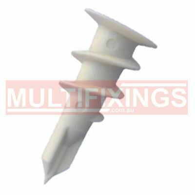 200pcs - 14mm x 32mm NYLON HOLLOW WALL ANCHOR PLASTERBOARD FIXINGS