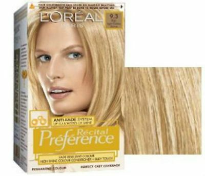L'Oreal Recital Preference Permanent Hair Colourant 9.3 Light Golden Blonde