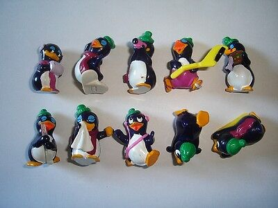 Kinder Surprise Set - Funny Pingos Penguins Europe 1995 - Figures Collectibles
