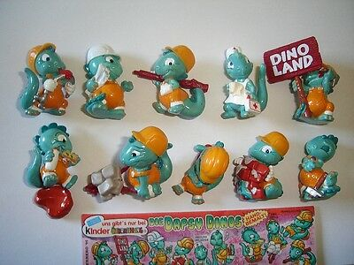 Kinder Surprise Set - Dapsy Dinos Builders Dinosaurs 1995 - Figures Collectibles