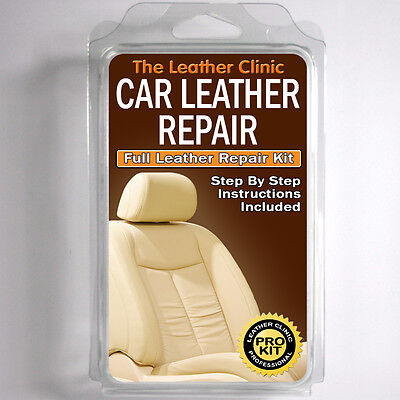 MERCEDES Leather Repair Kit for tears holes scuffs and colour dye damage