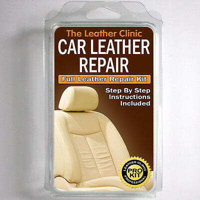 BMW MINI Leather Repair Kit for tears holes scuffs and colour dye damage