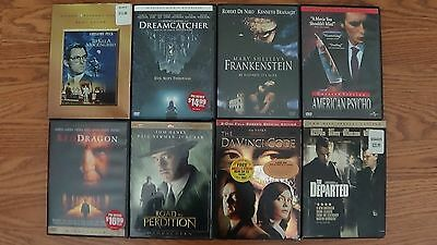 Lot of 8 Great DVD Movies! The Departed, The Da Vinci Code, Red Dragon + 5 More!