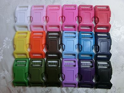 18x 1'' (25mm) Curved side release Plastic Buckle-Super Strong Buckle-18 colors