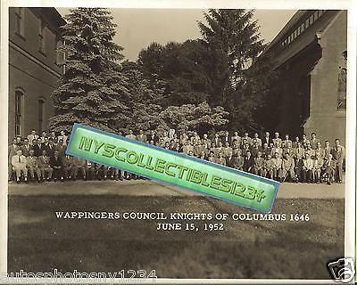 Knights of Columbus Wappingers Falls, NY Council 1646 8x10 Photograph June 1952