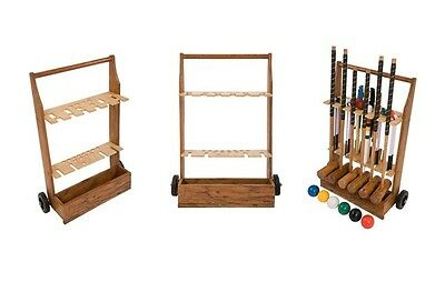 Wooden Croquet Trolley For Storage And Presentation Can Store A 6-Mallet Set