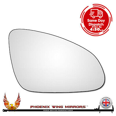 Right Drivers Side Vauxhall Astra J MK6 2009-2016 Convex Wing Door Mirror Glass