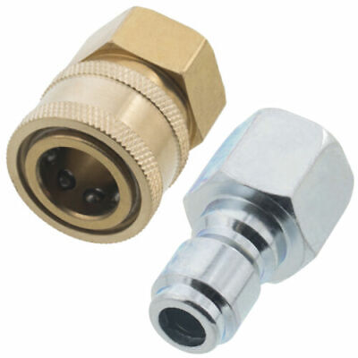 "3/8"" Quick Connect Fittings for Pressure Washer Hose-New- Top Quality ALL BRASS"