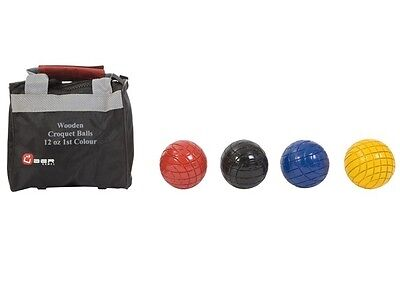 Wooden Croquet Balls In Set of Four 12oz Balls with Choice of Colour