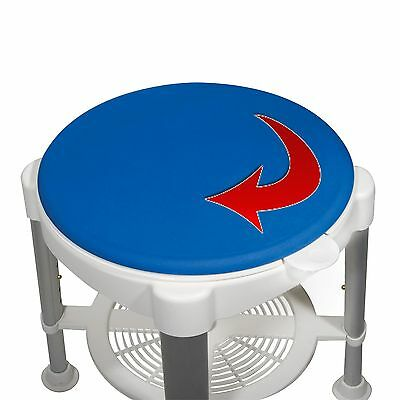 Rotating Bath Shower Stool, Padded Seat, 450 lb. Weight Capacity, Safety Chair
