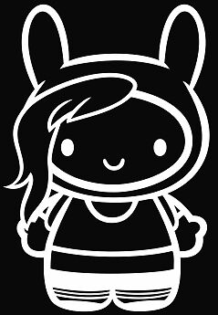 HELLO KITTY Fiona Adventure time vinyl die cut decal sticker choose color