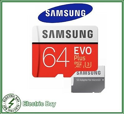 Samsung 64GB Evo Plus + Micro SD Card Class 10 100MB/s Mobile Phone Memory Card
