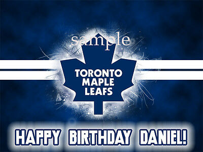 Toronto Maple LEAFS Edible Photo CAKE Topper ICING Image Decoration FREE SHIPPIN