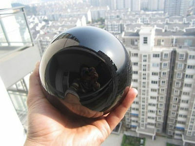 Natural Black Obsidian Sphere Large Crystal Ball Healing Stone 80mm + Stand