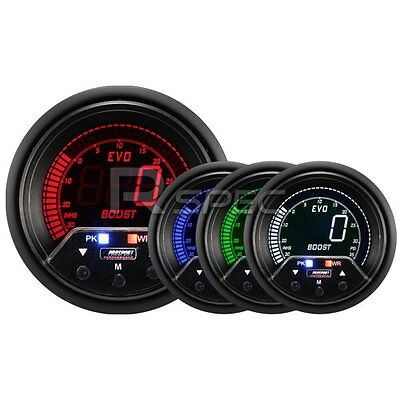 Prosport Evo 60mm LCD PSI Boost Gauge 4 colour with peak and warning