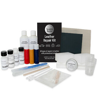 Leather Sofa & Chair Repair Kit for tears holes scuffs and colour dye