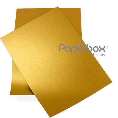10 A4 Gold Metallic Pearl Shimmer Paper 100gsm - double sided