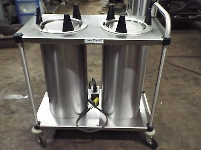Servolift Eastern HEATED 2 Stack Mobile Dish Plate Dispenser Cart