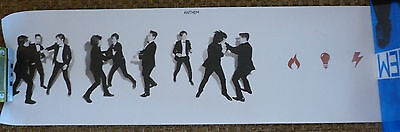 "HANSON ANTHEM POSTER ISAAC TAYLOR ZAC from Platinum package RARE long 39"" X 12"""