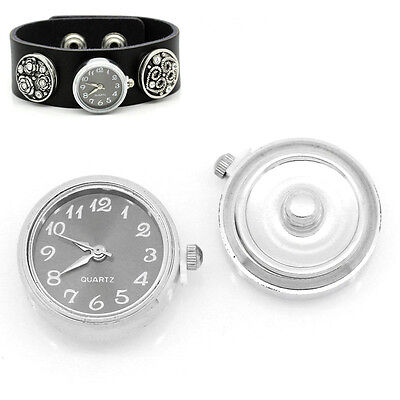 "Wholesale Lots Watch Face Snap Click Buttons Snap Black 1""x 7/8"""