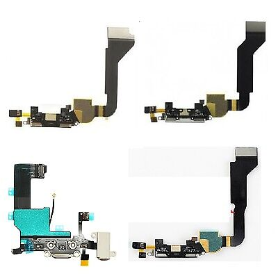 Black White Charge Port Dock Connector Mic USB Data Sync Port for iPhone 4 4S 5