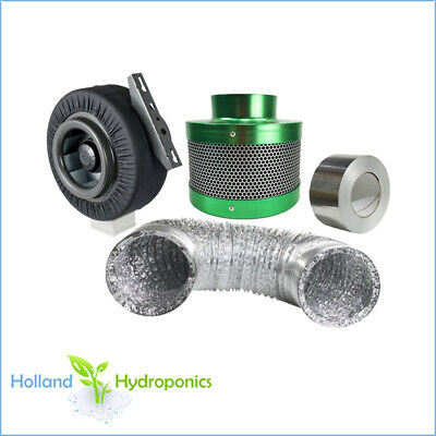 4 inch carbon filter ducting duct fan Hydroponic Grow Light Room ventilation kit