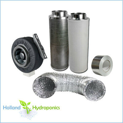 6 inch carbon filter+ducting+duct fan for Hydroponics Grow Room ventilation kit