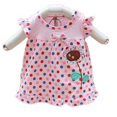 New Baby Girls Dotted Cotton Top in Pink Yellow 0-3 3-6 6-9 9-12 Months