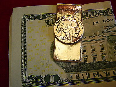 Money Clip: Indian Nickle Real Coin, Full Date!
