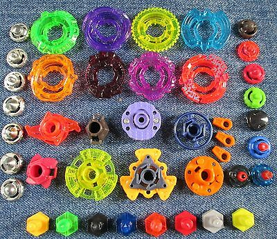 Beyblade Parts Randomized Pack Lot Set w/ Spin Tracks Tips Rings Face Bolts USA!