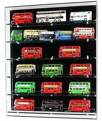 Acrylic Model Wall Display Case for 1:76 Model Buses - 6 Shelves