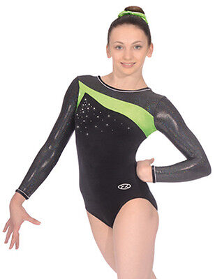 The Zone Icon Jewel Long Sleeve Velour Gymnastics Leotard - Girls Sizes