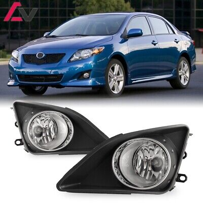 For Toyota Corolla 09-10 Clear Lens Pair Fog Light Lamp+Wiring+Switch Kit DOT