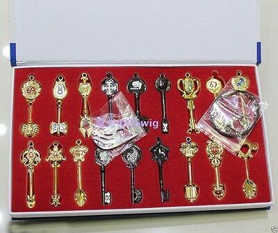 Cosplay Fairy Tail Lcuy Celestial Spirit Gate Keys set 18pcs