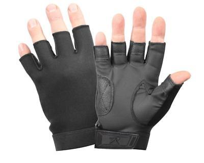 Fingerless Gloves Black Ultra Thin Tactical Stretch  3460 Rothco