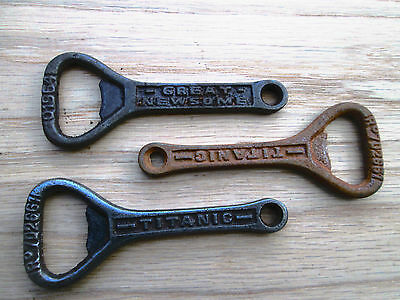 Cast iron Vintage old style Titanic ocean liner Bottle Opener Hand Held Key Ring