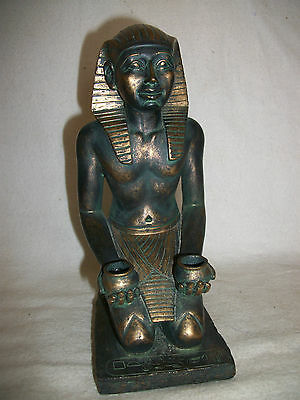 Egyptian Figure Of Kneeling  Pharoe