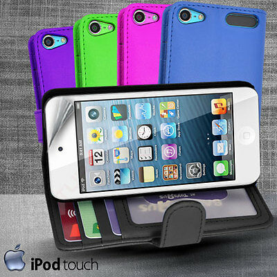 5 Colour Side Wallet Leather Case Cover for iPod Touch 5th Generation iTouch 5 +