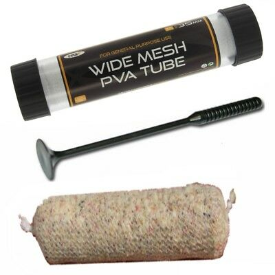 PVA Wide Mesh 7 Metres Stocking & Plunger and Free Tube 35mm for Carp Fishing